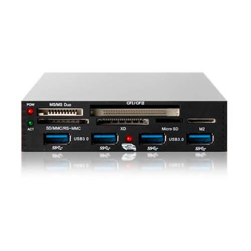 MULTILECTOR INTERNO 3.5'' COOLBOX CR-750H3 TARJETAS FLASH / HUB USB3.0 | Quonty.com | CR750-H3