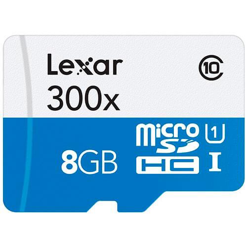 MICROSD LEXAR 8GB CL10 UHS-I ADAPTADOR SD | Quonty.com | LSDMI8GBBBEU300A