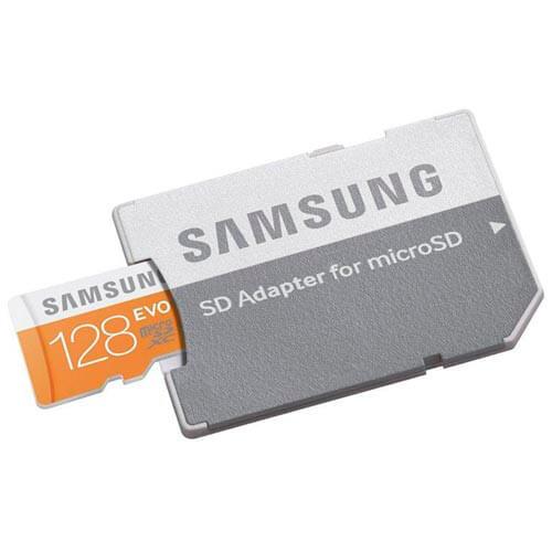 MICROSD SAMSUNG 128GB CL10 UHS-I EVO ADAPTADOR SD | Quonty.com | MB-MP128DA/EU