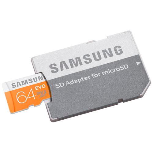 MICROSD SAMSUNG 64GB CL10 UHS-I EVO ADAPTADOR SD   Quonty.com   MB-MP64DA/EU