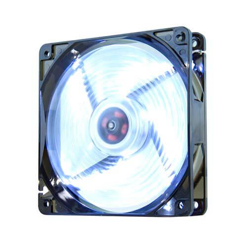 Ventilador Nox Cool Fan 12cm 1.200rpm Leds-Blancos | Quonty.com | NXCFAN120LW