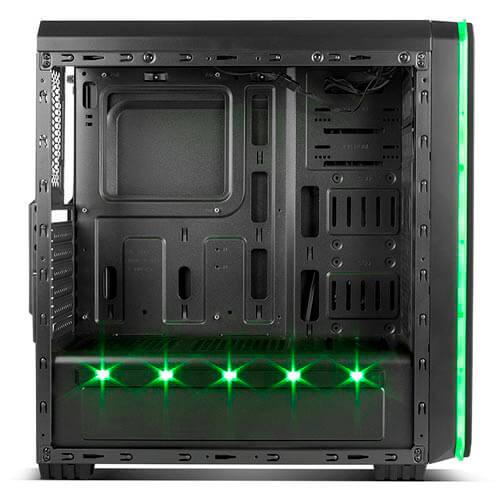 CAJA SEMITORRE/ATX NOX HUMMER MC USB3.0 NEGRA LEDS   Quonty.com   NXHUMMERMCB