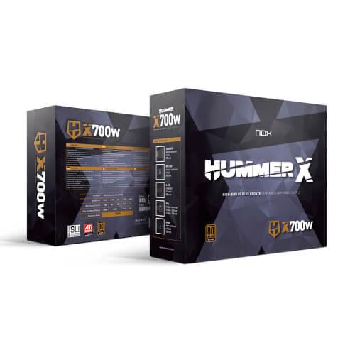 Fuente Alimentacion 700w Nox Hummer X 80+Bronze Atx | Quonty.com | NXHUMMERX700WBZ