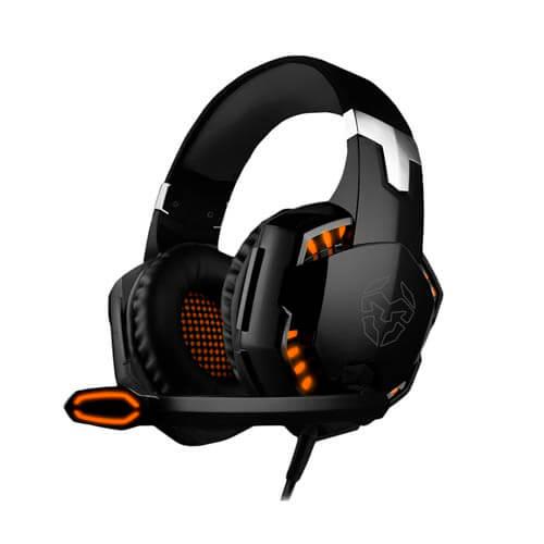 Auriculares C/Microfono Nox Krom Kyus 7.1 Usb Negro/Naranja | Quonty.com | NXKROMKYS