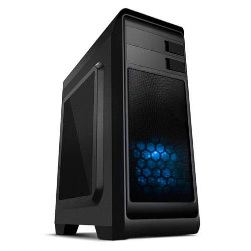 CAJA SEMITORRE/ATX NOX MODUS USB3.0 LED-AZUL METAL | Quonty.com | NXMODUSB