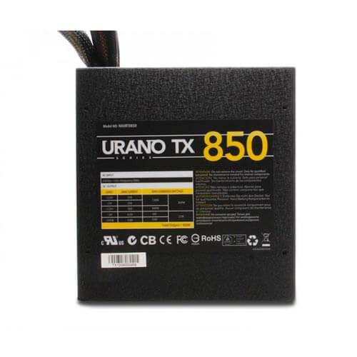 FUENTE ALIMENTACION 850W NOX URANO TX PFC-PASIVO 6SATA PCI-E 14CM ATX   Quonty.com   NXURTX850