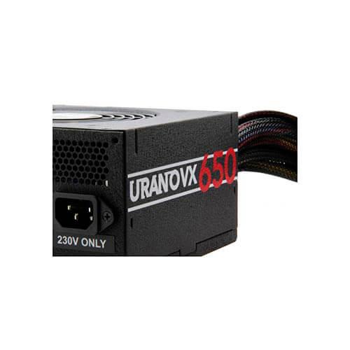 FUENTE ALIMENTACION 650W SATA PCI-E NOX URANO VX PFC-ACTIVO 12CM ATX | Quonty.com | NXURVX650