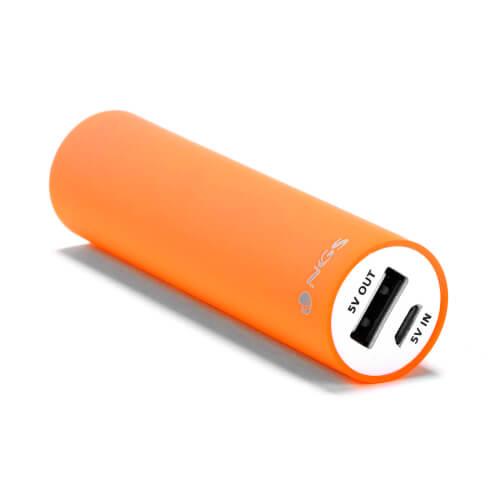 Powerbank/Bateria Externa Ngs Powerpump Fluor 2200mah | Quonty.com | POWERPUMP2200ORANGE