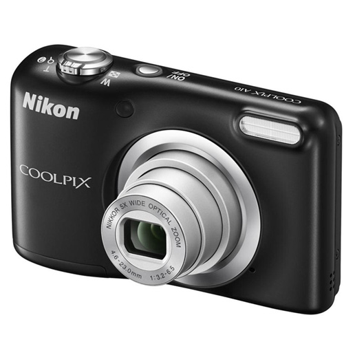 "CAMARA DIGITAL NIKON COOLPIX A100 NEGRA - 20.1MPX - ZOOM OPTICO 5X - TFT 2.7""/6.7CM - VIDEO 720P HD - ESTABIL. DIGITAL - SD - BAT + FUNDA Y PALO SELFI 