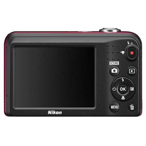 "CAMARA DIGITAL NIKON COOLPIX A10 ROJA - 16.1MPX - ZOOM OPTICO 5X - TFT 2.7""/6.7CM - VIDEO 720P HD - ESTABIL. DIGITAL - SD - 2xAA + FUNDA | Quonty.com | 999A10R1"