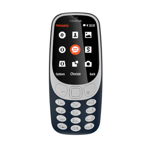 Smartphone Nokia 3310 2.4'' 2g Azul   Quonty.com   DS TA-1030 DK BLUE