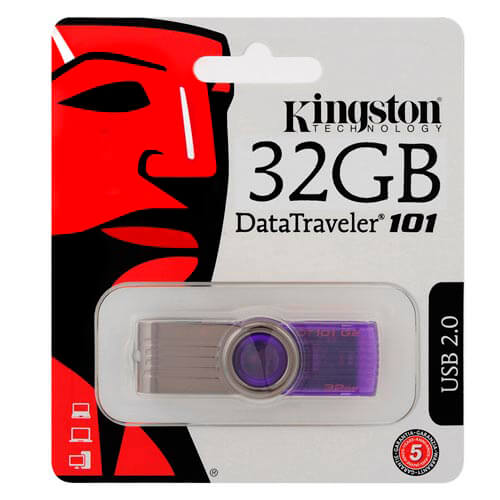 PENDRIVE KINGSTON 32GB USB2.0 DT101 G2 VIOLETA | Quonty.com | DT101G2/32GB