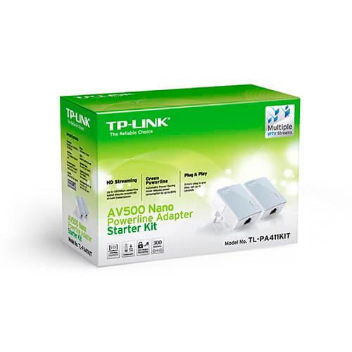 KIT 2 POWERLINE TP-LINK TL-PA411-KIT RJ45/500MBPS | Quonty.com | TL-PA411-KIT