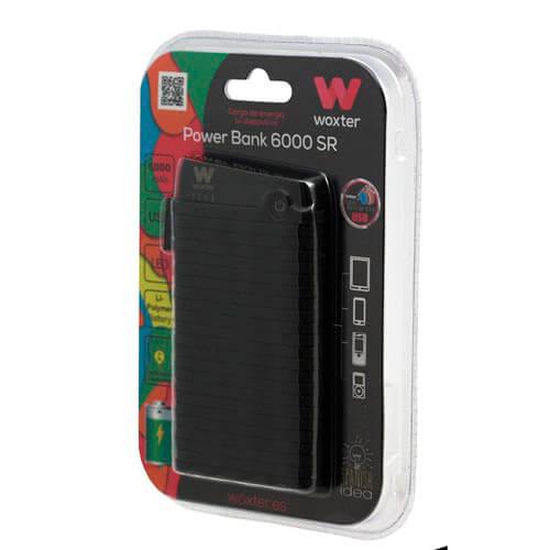 POWERBANK WOXTER 6000 SR NEGRO | Quonty.com | PE26-125