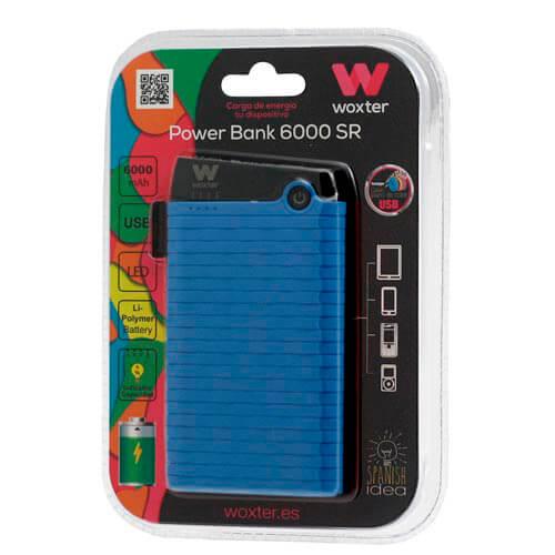 Powerbank/Bateria Externa Woxter 6000 Sr Azul | Quonty.com | PE26-126
