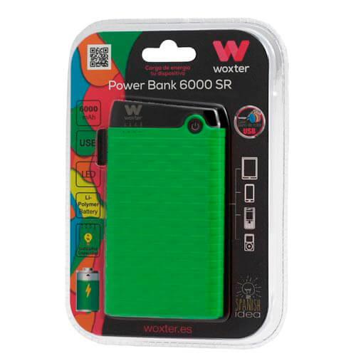 POWERBANK WOXTER 6000 SR VERDE   Quonty.com   PE26-127