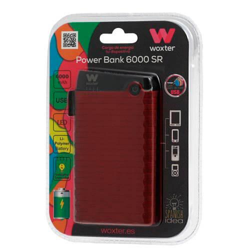 POWERBANK WOXTER 6000 SR ROJO | Quonty.com | PE26-129