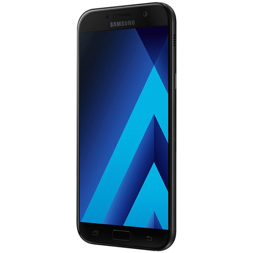 SMARTPHONE SAMSUNG GALAXY A5 (2017) 5.2''FHD OCTACORE 3GB/32GB 4G 16/16MPX 1SIM A.6.0.1 NEGRO | Quonty.com | SM-A520FZKAPHE
