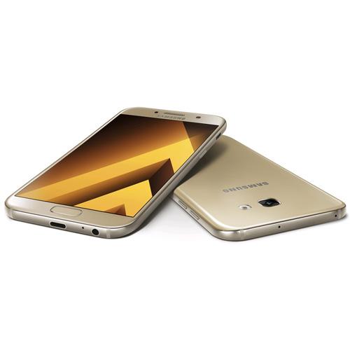 SMARTPHONE SAMSUNG GALAXY A5 (2017) 5.2''FHD OCTACORE 3GB/32GB 4G 16/16MPX 1SIM A.6.0.1 GOLD | Quonty.com | SM-A520FZDAPHE