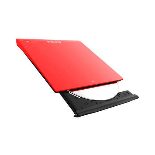 REGRABADORA DVD EXTERNA SAMSUNG SE-208GB/RSRD USB2.0 SLIM ROJA   Quonty.com   SE-208GB/RSRD