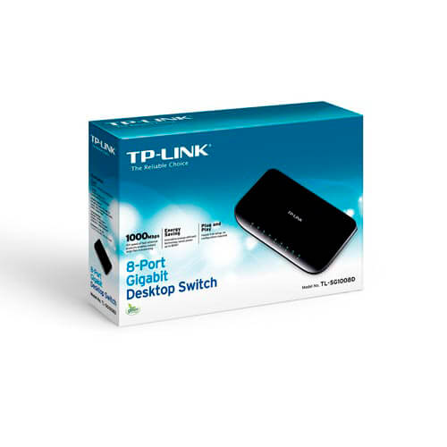 SWITCH TP-LINK 8PTOS 10/100/1000 TL-SG1008D V6 | Quonty.com | TL-SG1008D V6
