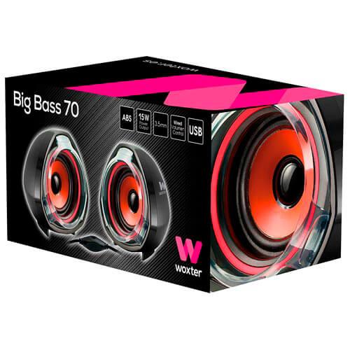 ALTAVOCES WOXTER BIG BASS 70 2.0 - 15W ROJO | Quonty.com | SO26-056