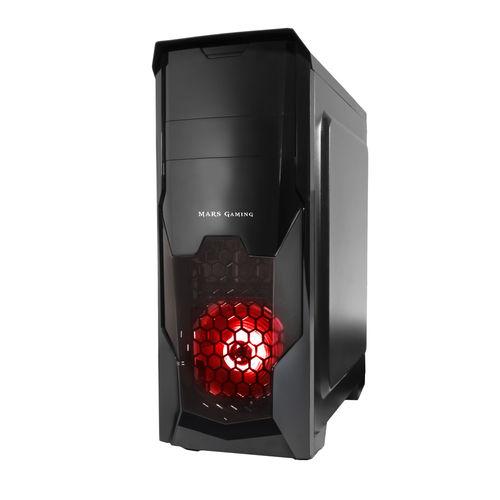 CAJA SEMITORRE/ATX TACENS MC5 USB3.0 LED ROJO   Quonty.com   MC5