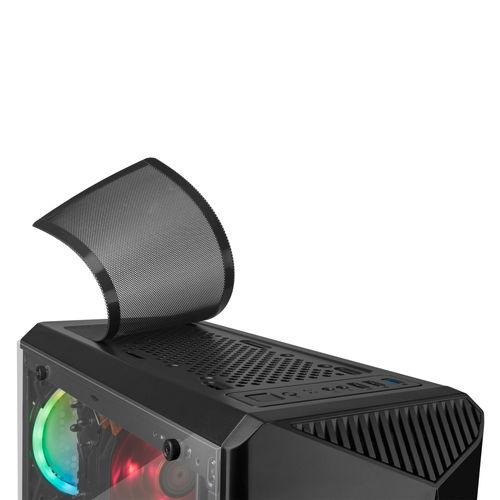 CAJA SEMITORRE TACENS MARS GAMING MCX S/FUENTE USB 2.0 NEGRO | Quonty.com | MCX
