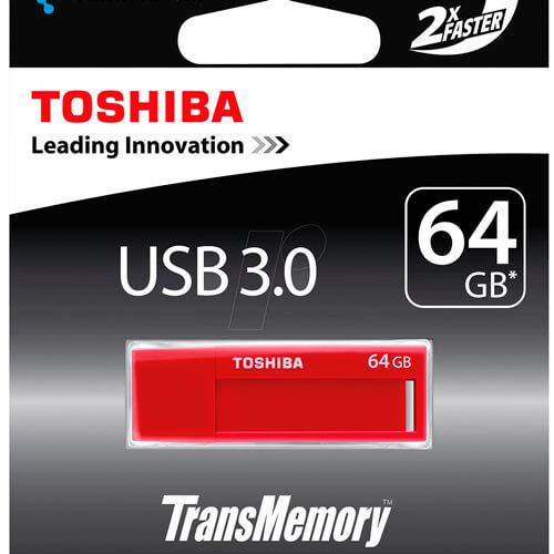 PENDRIVE TOSHIBA 64GB USB3.0 DAICHI ROJO | Quonty.com | THN-U302R0640M4