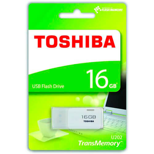 PENDRIVE TOSHIBA 16GB USB2.0 HAYABUSA BLANCO | Quonty.com | THN-U202W0160E4