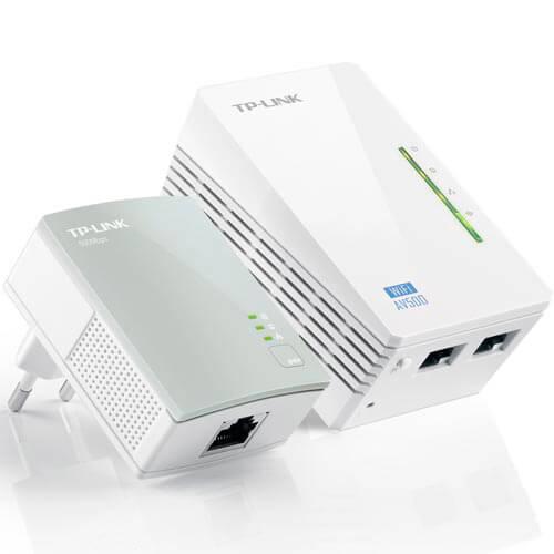 KIT 2 POWERLINE TP-LINK TL-WPA4220KIT 2RJ45/500MBPS WIFI-N | Quonty.com | TL-WPA4220 KIT