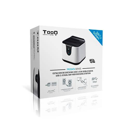 BASE CONECTORA TOOQ TQDS802BW 2.5/3.5 SATA3 USB3.0 | Quonty.com | TQDS-802BW