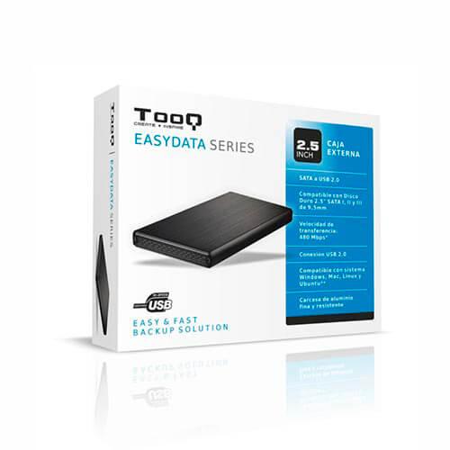 CAJA HDD TOOQ TQE-2502B 2.5'' SATA3 USB2.0 9,5MM NEGRA   Quonty.com   TQE-2502B
