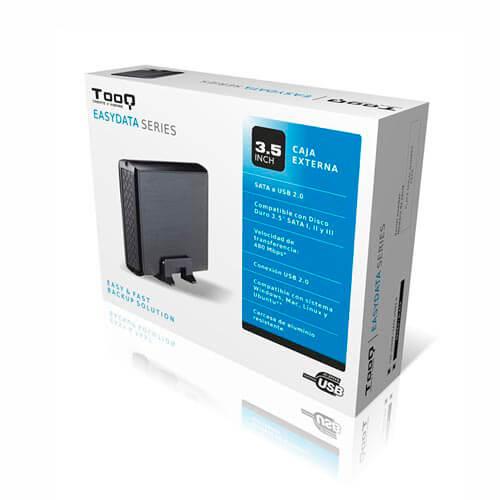 CAJA HDD TOOQ TQE-3509S 3.5'' SATA3 USB2.0 PLATA   Quonty.com   TQE-3509S