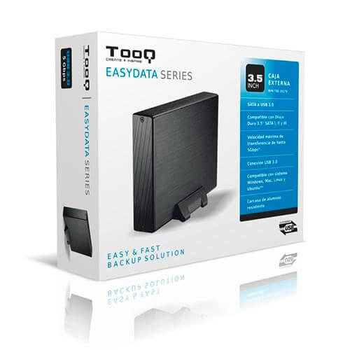 CAJA HDD TOOQ TQE-3527B 3.5'' SATA3 USB3.0 NEGRA   Quonty.com   TQE-3527B