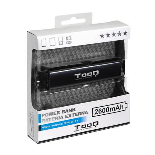Powerbank/Bateria Externa Tooq Tqpb-1026-B 2600mah Negro | Quonty.com | TQPB-1026-B
