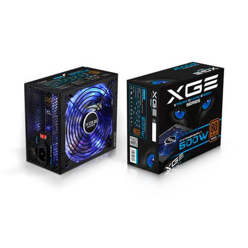 Fuente Tooq Gaming 600w Pfc-Activo 80+Bronze 14cm Atx | Quonty.com | TQXGEII-600SAP