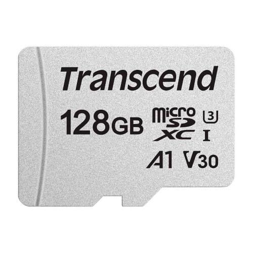 MICROSD TRANSCEND 128GB CL10 UHS-3 +ADAPTADOR SD | Quonty.com | TS128GUSD300S-A