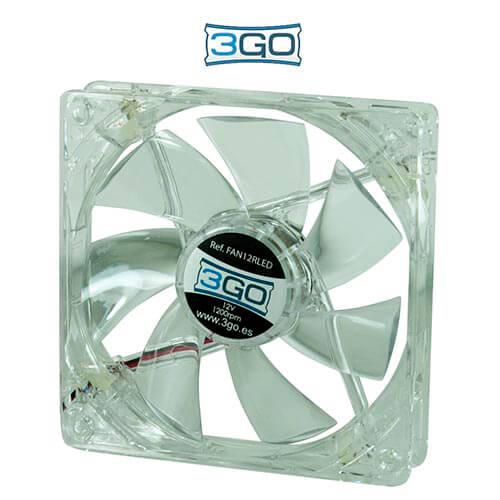 3GO FAN12RL 12CM 1.200RPM LEDS-ROJOS   Quonty.com   FAN12RL