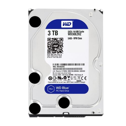 HDD WD 3.5'' 3TB 5400RPM 64MB SATA3 BLUE | Quonty.com | WD30EZRZ