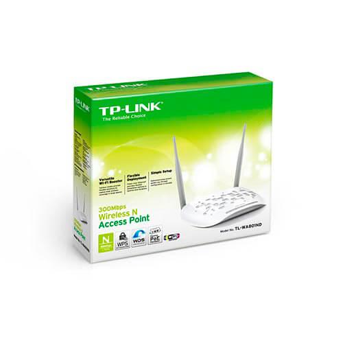 PUNTO ACCESO TP-LINK TL-WA801ND WIFI-N/300MBPS 1RJ45 WPS 2ANTENAS-4DBI   Quonty.com   TL-WA801ND