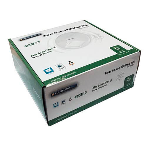 PUNTO DE ACCESO CONNECTION WIFI-N/300MBPS POE | Quonty.com | CNC-WAP300CP