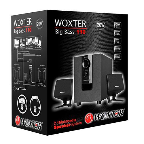 ALTAVOCES WOXTER BIG BASS 110 2.1 20W | Quonty.com | SO26-053