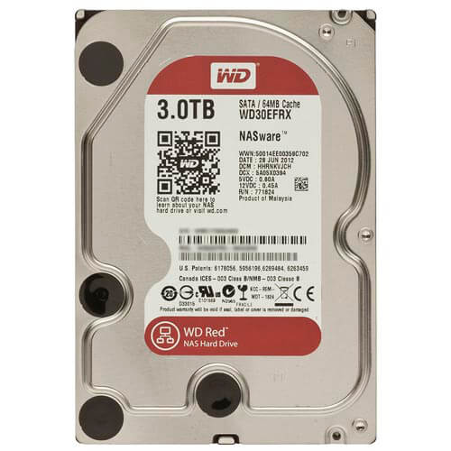Hdd Wd Nas 3.5'' 3tb 5400rpm 64mb Sata3 Red | Quonty.com | WD30EFRX