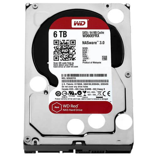 HDD WD NAS 3.5'' 6TB 5400RPM 64MB SATA3 RED | Quonty.com | WD60EFRX
