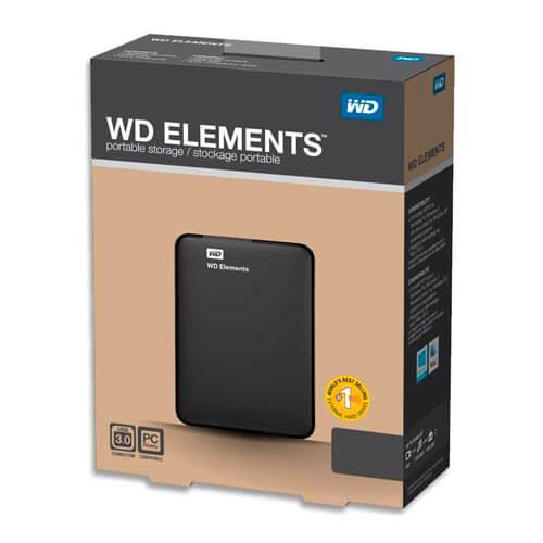 HDD WD EXTERNO 2.5'' 1TB USB3.0 ELEMENTS NEGRO   Quonty.com   WDBUZG0010BBK-EESN