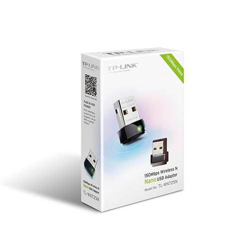 ADAPTADOR RED TP-LINK TL-WN725N USB2.0 WIFI-N/150MBPS NANO | Quonty.com | TL-WN725N