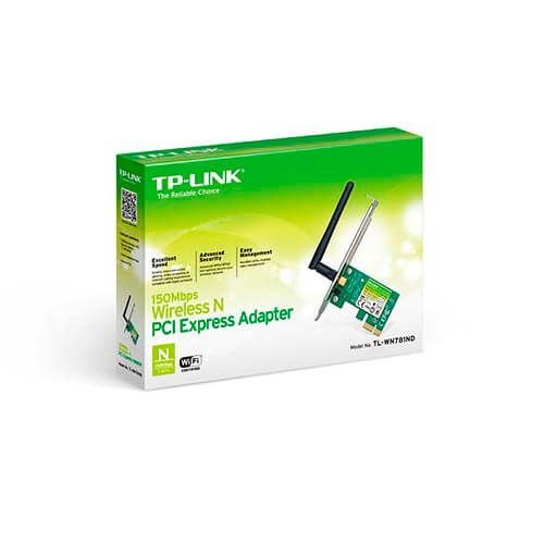 TARJETA RED WIFI TP-LINK TL-WN781ND PCI-E WIFI-N/150MBPS 1ANTENA ATHEROS | Quonty.com | TL-WN781ND