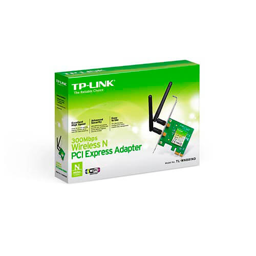TARJETA RED WIFI TP-LINK TL-WN881ND PCI-E WIFI-N/300MBPS 2ANTENAS | Quonty.com | TL-WN881ND