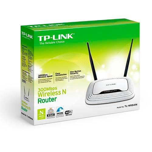 ROUTER TP-LINK TL-WR841ND 4PTOS WIFI-N/300MBPS 2ANTENAS | Quonty.com | TL-WR841ND